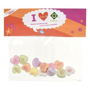 Candy Bag (with Header Card) with Conversation Hearts