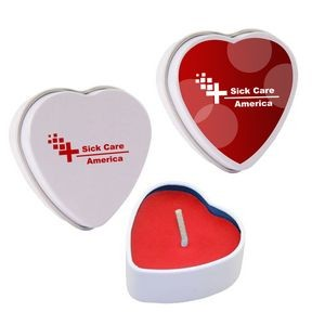 Heart Tin Candle