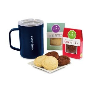 Corkcicle® Sip & Indulge Cookie Gift Set - Gloss Navy