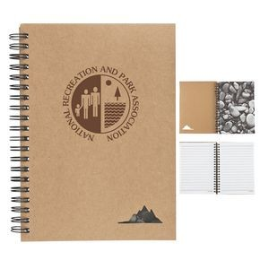 "5"" x 7"" Spiral Stone Paper Notebook"