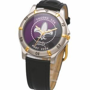 Ladies' 2-Tone Sporty Design Watch, black straps, Japanese quartz movement