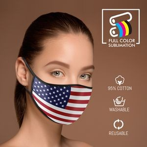 3-Ply Sublimation Cotton Face Mask