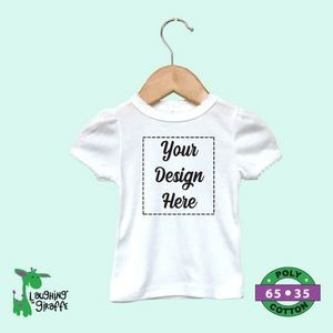 Baby Short Sleeve Bodysuits - White - 100% Cotton (CottonLite) - The Laughing Giraffe®