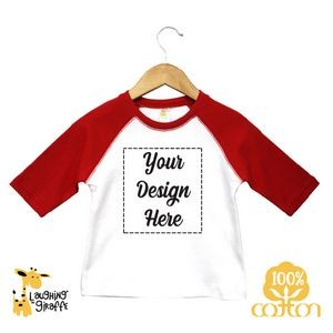 Crew Neck Baby Bodysuits - White - 100% Cotton - The Laughing Giraffe®