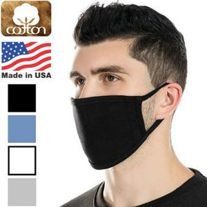 USA Made 3-Layer Reusable Cotton Face Mask w/ Elastic Loop